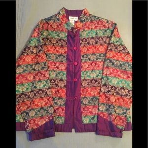 Coldwater Creek Asian Inspired Jacket